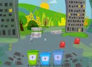 Gra edukacyjna Porządki. W czasie zabawy dziecko rozwija umysł, zdobywa wiedzę o segregowaniu odpadów i ćwiczy koncentrację uwagi oraz pamięć